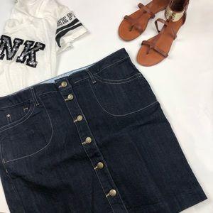 NWT Tommy Hilfiger Skirt Dark Blue Denim Sz 14